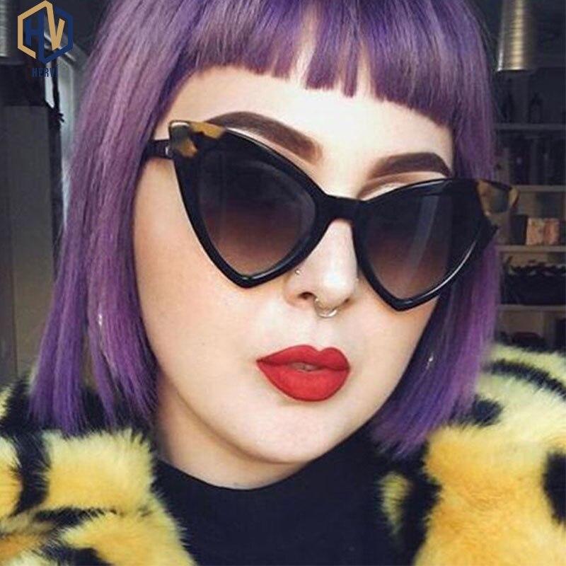 2020 Women Cat Eye Sunglasses Black Brand Designer Gradient Sun Glasses Female UV400 gafas de sol