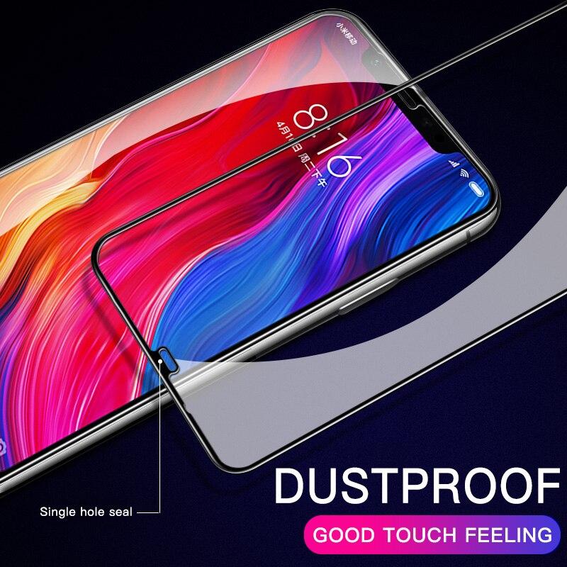 كامل غطاء الزجاج المقسى ل Xiaomi مي 8 9 لايت SE A1 A2 لايت 5S 5X 6X شاشة حامي واقية فيلم ل Pocophone F1 F2