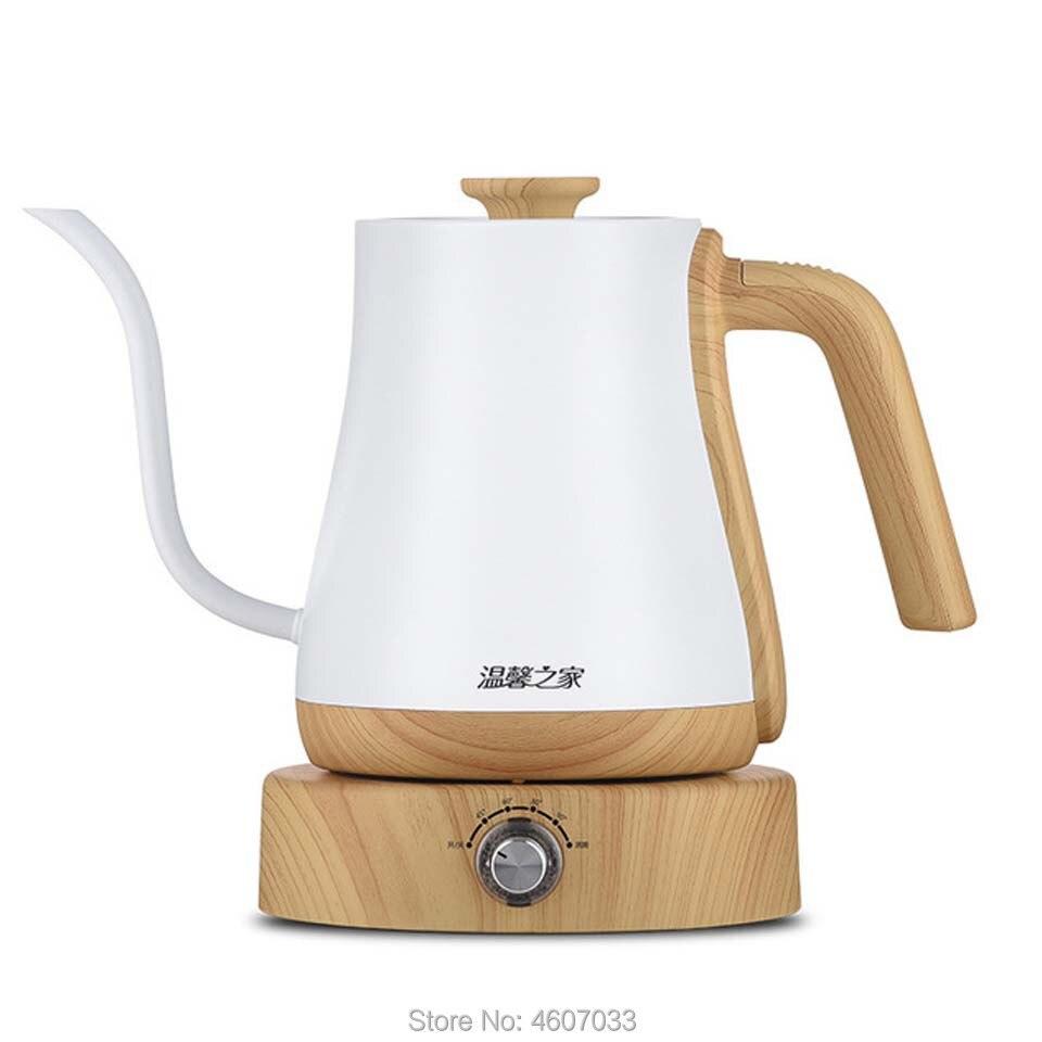 1L غلاية الفولاذ المقاوم للصدأ إبريق قهوة متغير التردد ثابت تعديل درجة الحرارة الكهربائية Gooseneck فوهة طويلة إبريق الشاي