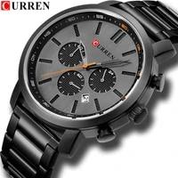 curren luxury casual stainless steel watch mens fashion chronograph quartz men watches sport waterproof male clock %d1%87%d0%b0%d1%81%d1%8b %d0%bc%d1%83%d0%b6%d1%81%d0%ba%d0%b8%d0%b5