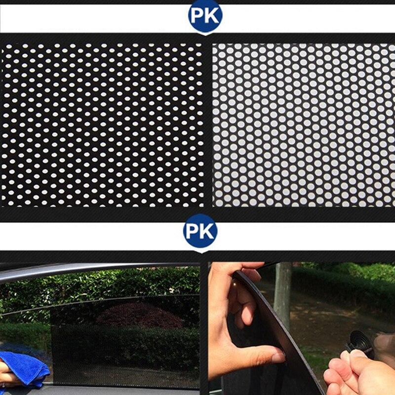 2 pçs/lote 72*51cm PVC Acessórios Do Carro Auto Adesivo Sun Sombra Cortina Ventosa