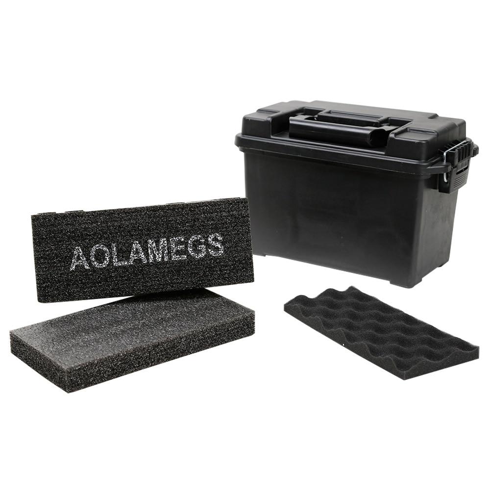 Пластиковая коробка для амуниции размером 50 калибра и держатель для хранения 24 пистолета, пенопластовая вставка для стальной тактической к...