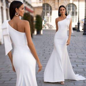 Beach Mermaid Wedding Dresses One Shoulder Country Bohemian Bridal Gowns 2020 Custom Made Wedding Dress