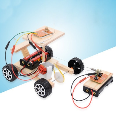 DIY Creative Wireless RC Car Model Science Experiment Puzzle Assembly Toy For Students Kids boys