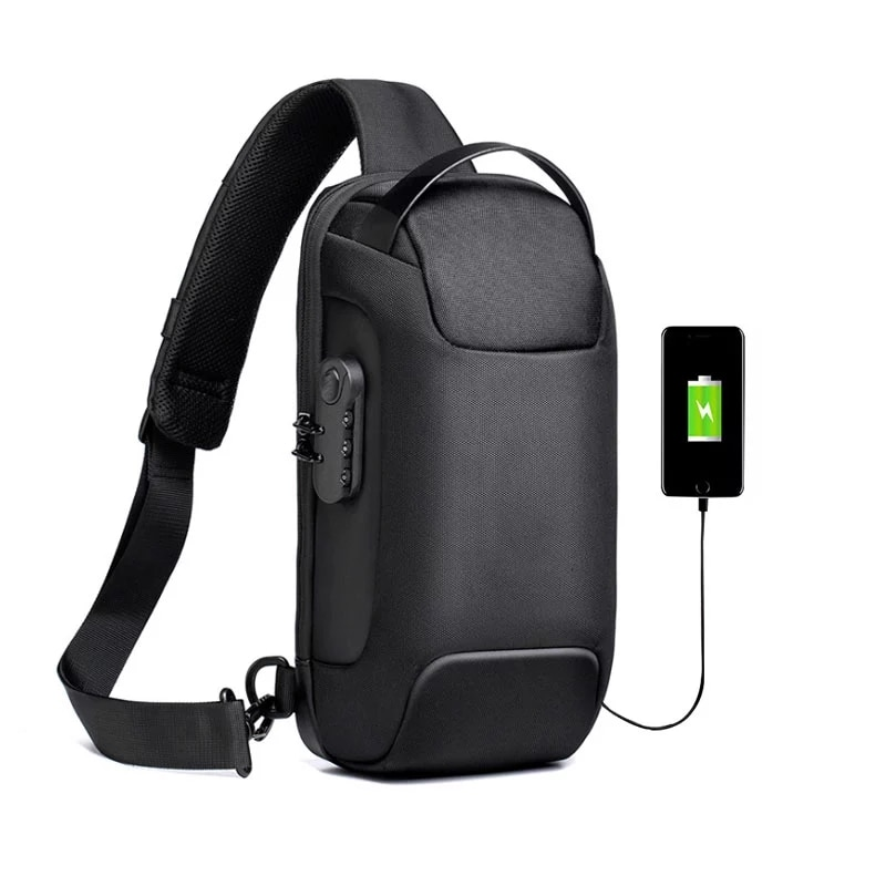 New Multifunction  for Men Anti-theft Shoulder Messenger Bags  Male Waterproof Short charging Trip Chest Bag Male Bag new multifunction crossbody bag for men anti theft shoulder messenger bags male waterproof short trip chest bag male bag
