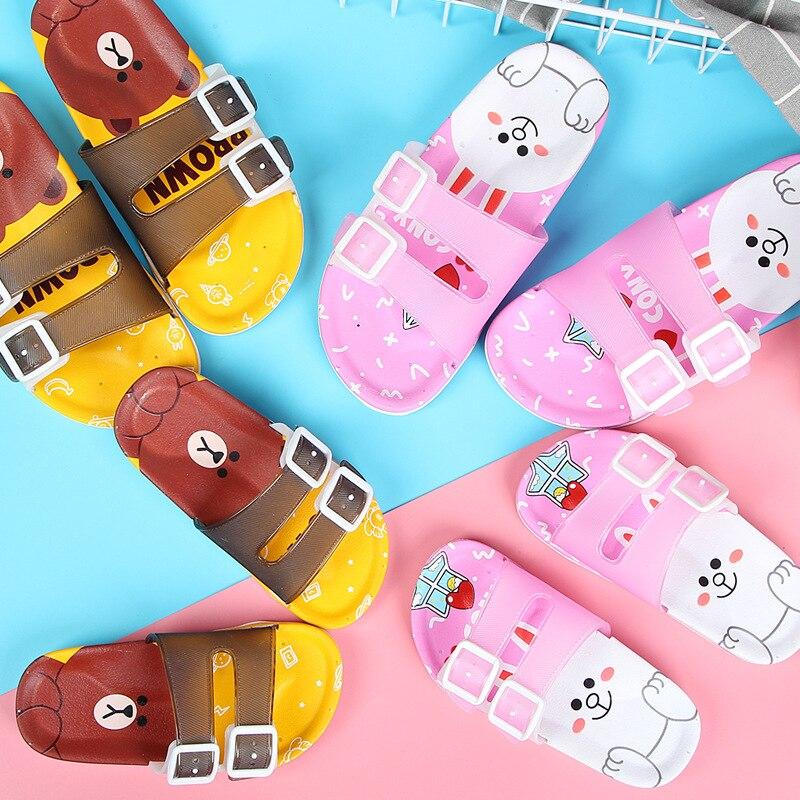 Zapatillas de verano para niños, sandalias de playa para niñas, zapatillas de bebé, sandalias para niños, sandalias de colores a juego para casa, zapatos informales de fondo suave