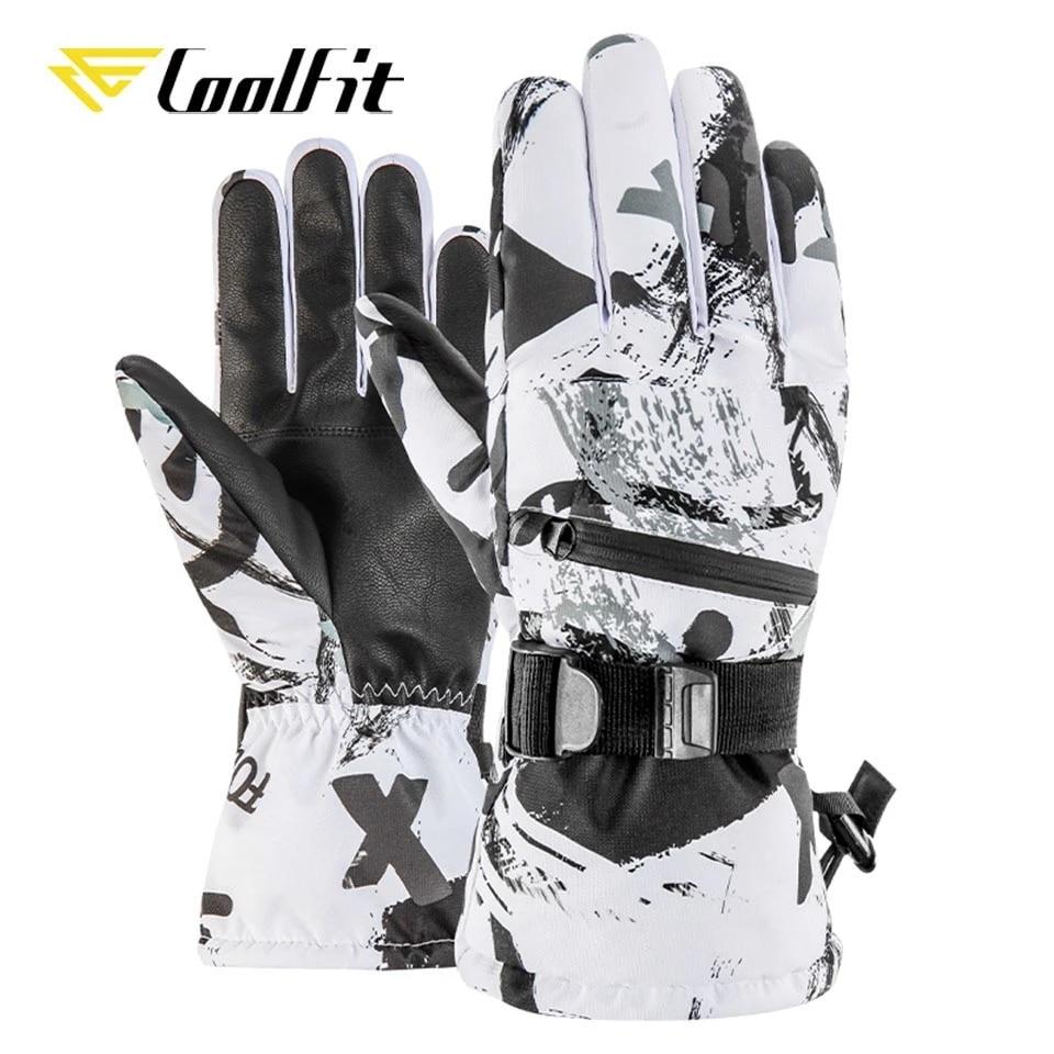CoolFit Men Women Ski Gloves Ultralight Waterproof Winter Warm Gloves Snowboard Gloves Motorcycle Riding Snow waterproof gloves