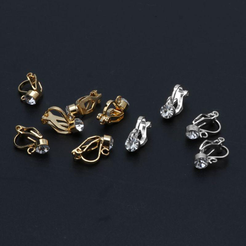 Convertidor de pendientes con Clip 10 Uds con bucle de Fácil de abrir sin perforar la fabricación de joyas