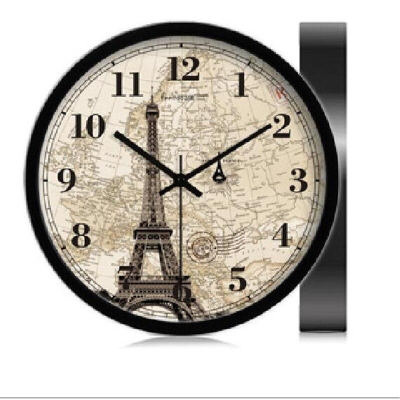 Reloj de pared decorativo Vintage grande, reloj de mesa, reloj de decoración para el hogar, reloj de cuarzo para sala de estar europea, reloj de pared QZE175