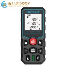 Mileseey laser distance meter elettronica roulette nastro telemetro laser digitale metro trena laser range finder nastro di misurazione