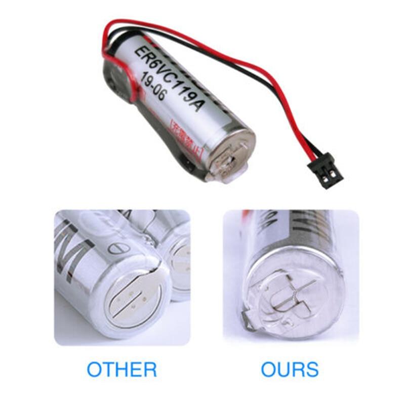 5 pièces dorigine ER6VC119A PLC batterie pour Mitsubishi M70 W/Plug ER6V/3.6V ER6VC119B 3.6V batterie au Lithium pour TOSHIBA