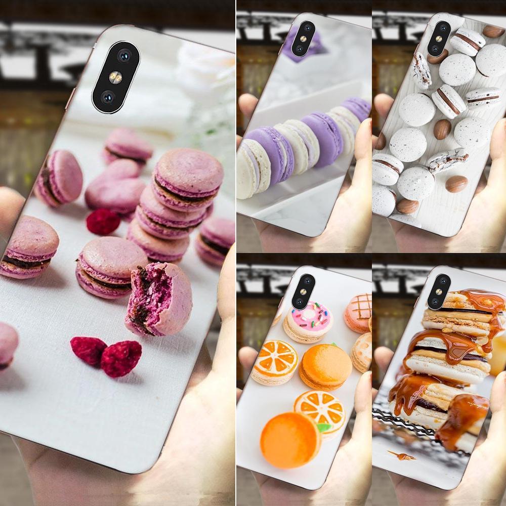 Comida para macarons biscoitos oferta especial luxo escudo do telefone móvel para htc u11 vida capa u11 plus u 11 u12 vida