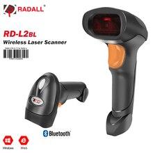Support portatif tenu dans la main de lecteur de Code à barres de Scanner de Code à barres de Laser sans fil de Bluetooth de RADALL pour linventaire de position de victoire/Mac