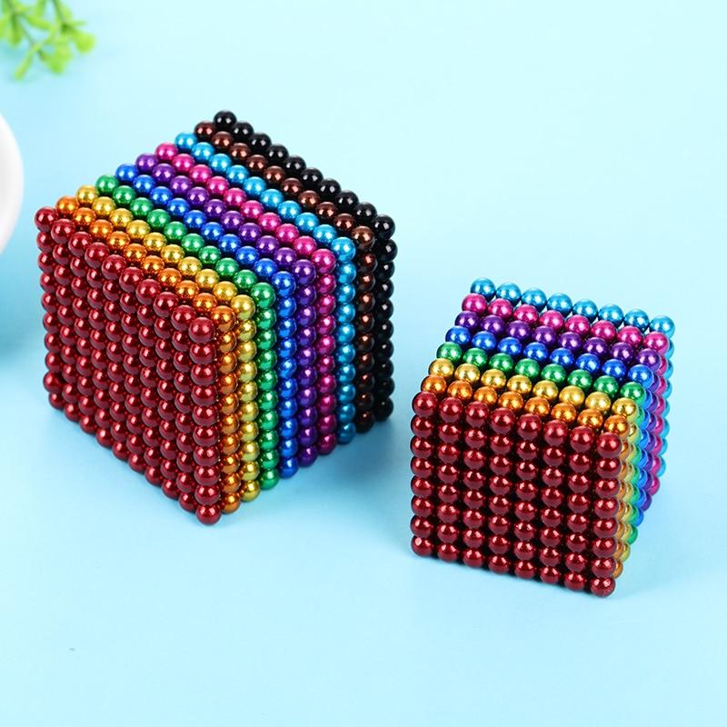 DIY Metal Neodymium Magic 5mm Magnet Magnetic Balls Blocks Cube Construction Building Toys Colorfull