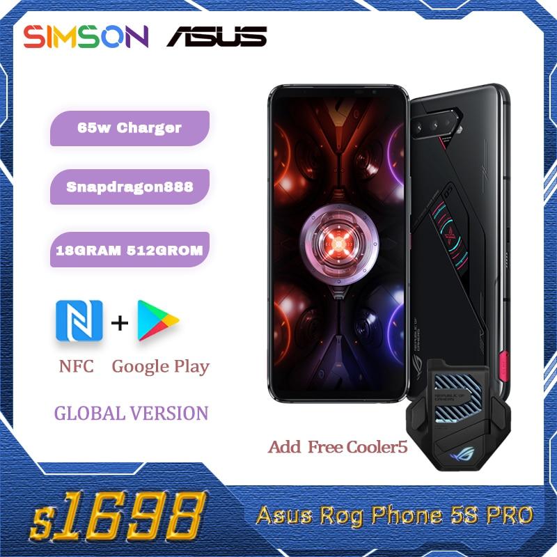 Origina ASUS ROG Phone 5s Pro Global Version Snapdragon888 18GB RAM 512GB ROM NFC 6000mAh 65W Support OTA smartphone ROG5S  PRO