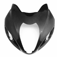 carbon fiber pattern front nose headlight fairing for suzuki hayabusa gsx1300r 1999 2007