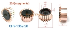 1 шт. 8 мм x 30 мм x 17,5 мм 20P медные стержни генератора переменного тока, коллектор электродвигателя