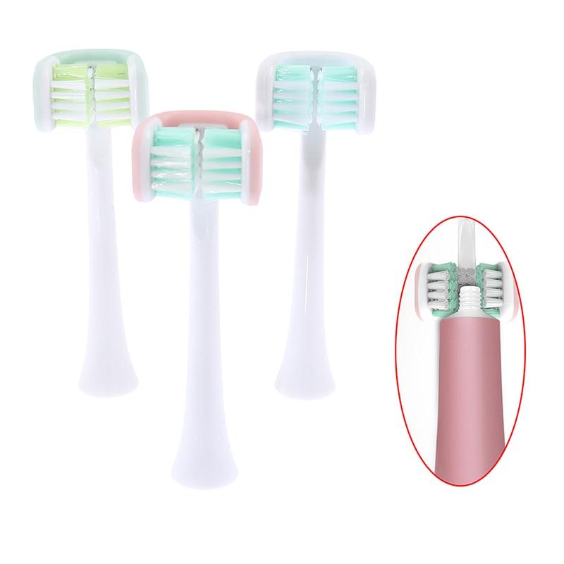 Трехсторонние головки для электрической зубной щетки, USB перезаряжаемая головка для зубной щетки зубной гель экопром cliny к104 75мл