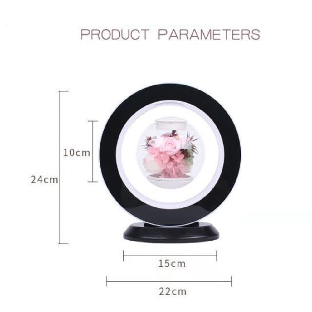 New Magnetic Levitation Immortal Flower Decoration Creatives Lamp Floating Table LED Night Light For Home Decor Gift Desk Lamp enlarge