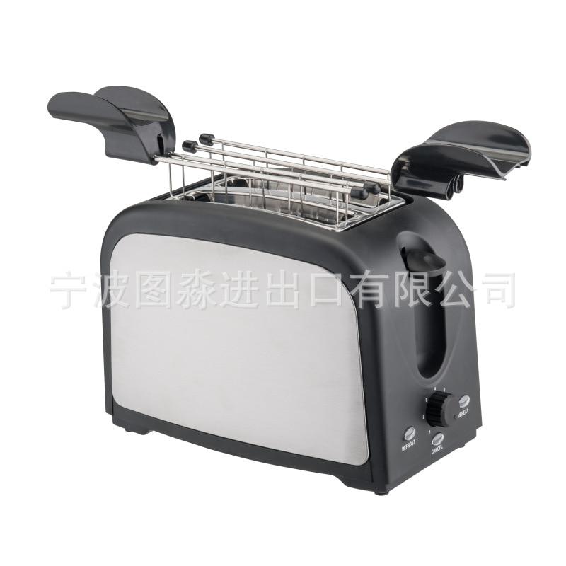 Tostadora de acero inoxidable, tostadora de punto estándar europeo, Mini tostadora doméstica, máquina de desayuno ligera personalizada a través de la frontera