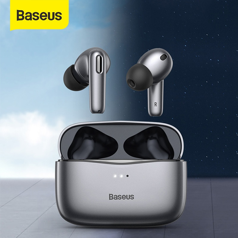 Get Baseus Official S2 TWS ANC True Wireless Earphones Active Noise Cancelling Bluetooth Headphone, Support Wireless Charging