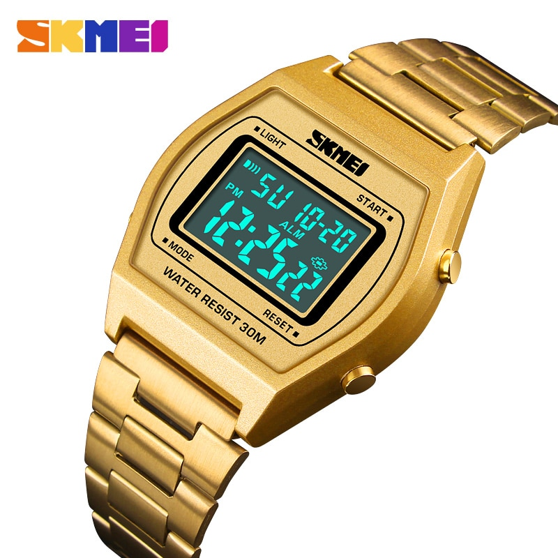 Skmei Top Merk Luxe Lichtgevende Mannen Digital Sport Horloge Chrono Kalender Alarm Mannelijke Clcok Relogio Masculino 1328 8 Soorten Kleur