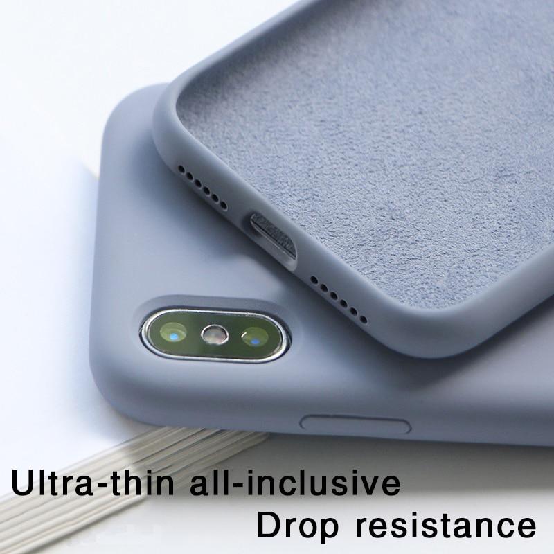Funda de teléfono de lujo fina de Color suave para iPhone 7 8 6 6s plus SE 2020 funda trasera de silicona Capa para iPhone X Xs 11 Pro Max XR X