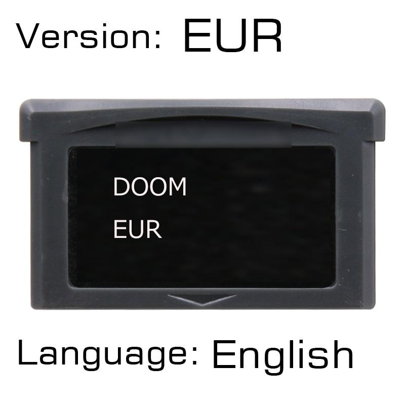 Doom Series 32 bits cartucho de videojuego consola Doom versión europea versión en inglés