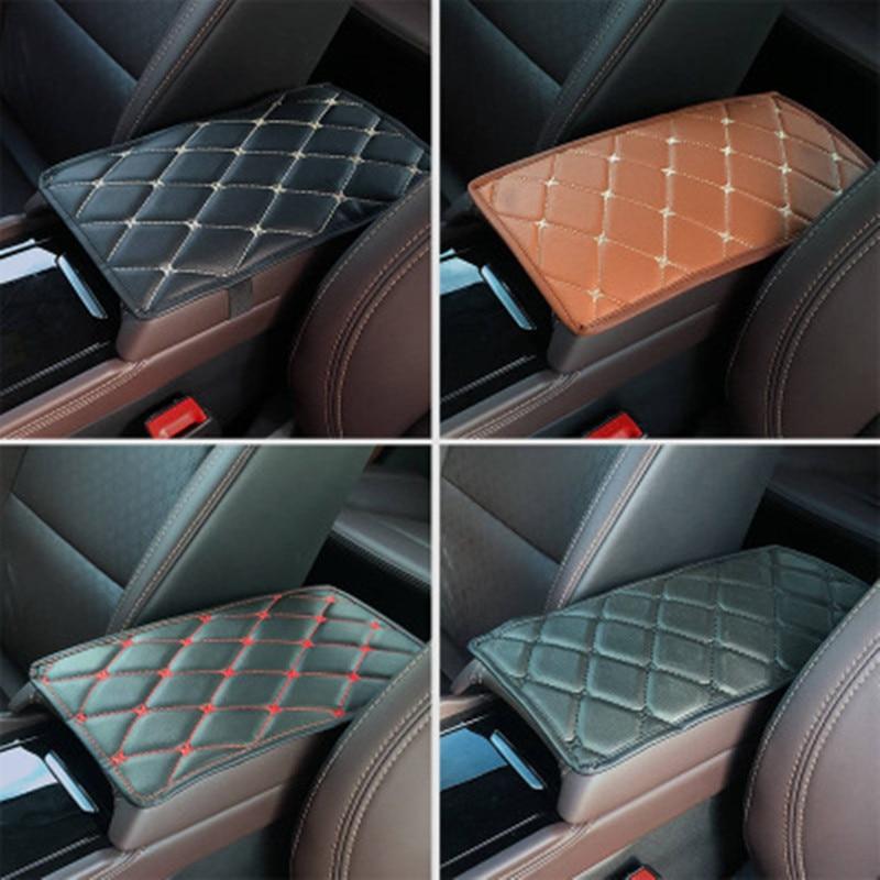 Car PU Armrest Box leather Cover Armrest Mat Cushion for Mercedes-Benz X166 X253 W166 C292 X204 GLK Car Accessories