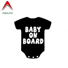 Aliauto Interesting Funny Car Sticker Baby on Board Onesie Mom Life Minivan Vinyl Decal Decoration Black/Silver,13cm*14cm