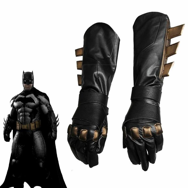 CostumeBuy, аксессуар для косплея Бэтмена, супергероя, Бэтмена Против Супермена, на заре справедливости, перчатки Бэтмэн, Необычные кожаные перчатки для косплея, черные