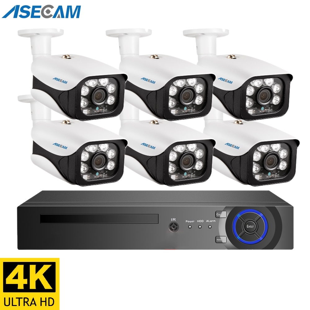 Super 8MP 4K POE NVR Kit Street CCTV Record Security System Dome IP Camera Outdoor Home Video Surveillance Camera Set