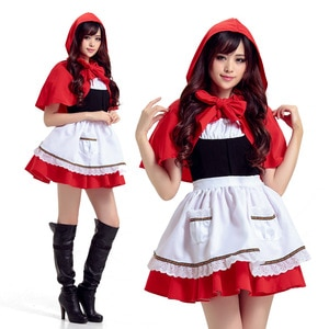 Export Japanese Halloween Costume the Red Cap Cosplay Costume Christmas Costume halloween costumes for women litter red cosplay
