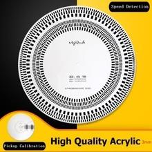 Professional LP Vinyl Pickup Calibration / Distance Gauge Protractor Adjustment Tool Speed Measurement Disc