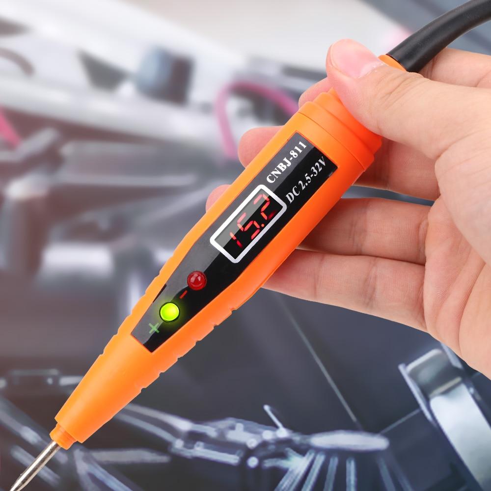Автодиагностика, цифровой дисплей, ручка для проверки электрической цепи автомобиля, тестер напряжения, ручка, датчик мощности, карандаш, А...