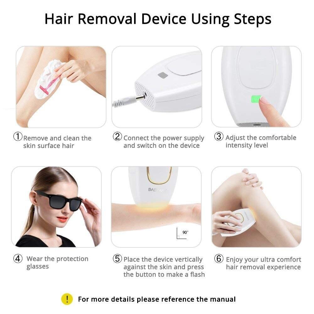 Home Hold Depilatory Laser Mini Hair Epilator Permanent Hair Removal IPL System Shot Light Pulses Whole Body Hair Remover enlarge