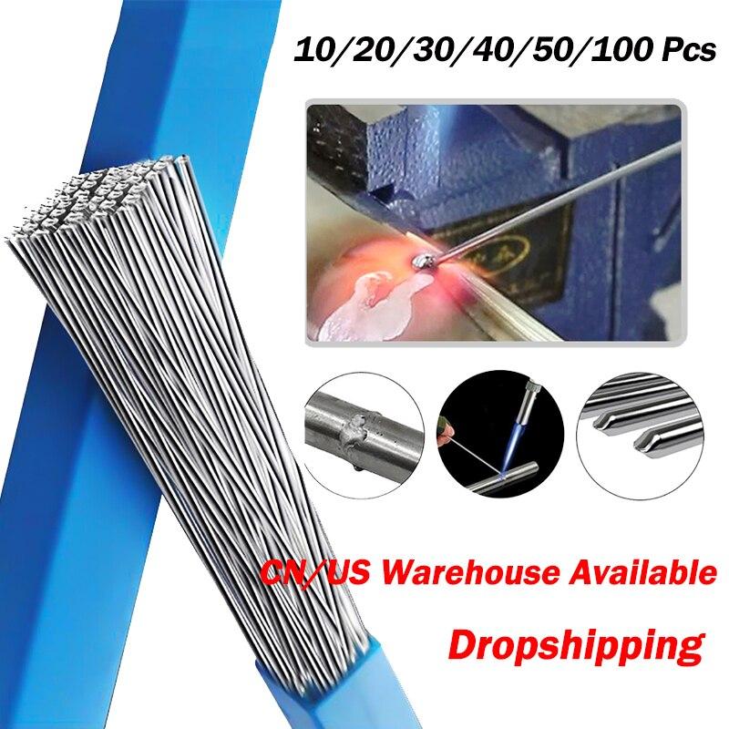 10/20/30/40/50/100 Uds de aluminio soldadura de brazo varilla con sellado 1,6/2MM baja...