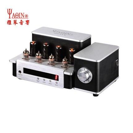 YAQIN MS-6V6 المتكاملة فراغ أنبوب مضخم ضوت سماعات الأذن قبل أمبير SRPP النقي بعد أمبير 6P6Px4 هل الفئة AB1 مكبر للصوت 2x12.5W