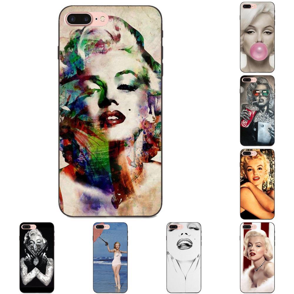 Para Huawei Y3 Y5 II Y6 Y7 Y9 nova 2 Plus 2 S 3i 4 Lite Plus primer 2017 de 2018 de 2019 piel de TPU Paintin Marilyn Monroe con goma de mascar