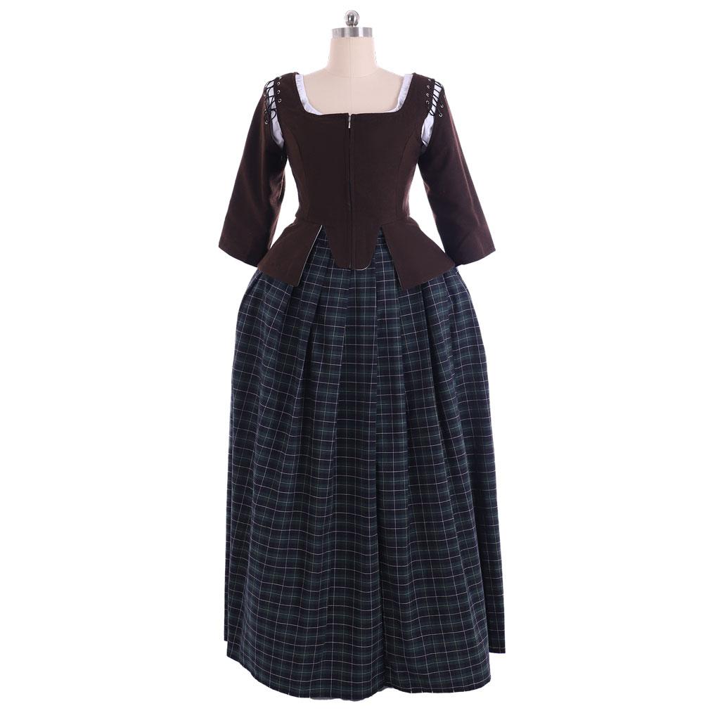 أزياء أوتلاندر أزياء هاملتون القرن 18th روكوكو المستعمرة سيدة الكرة ثوب الفيكتوري القرون الوسطى تنورة مساء خمر فستان