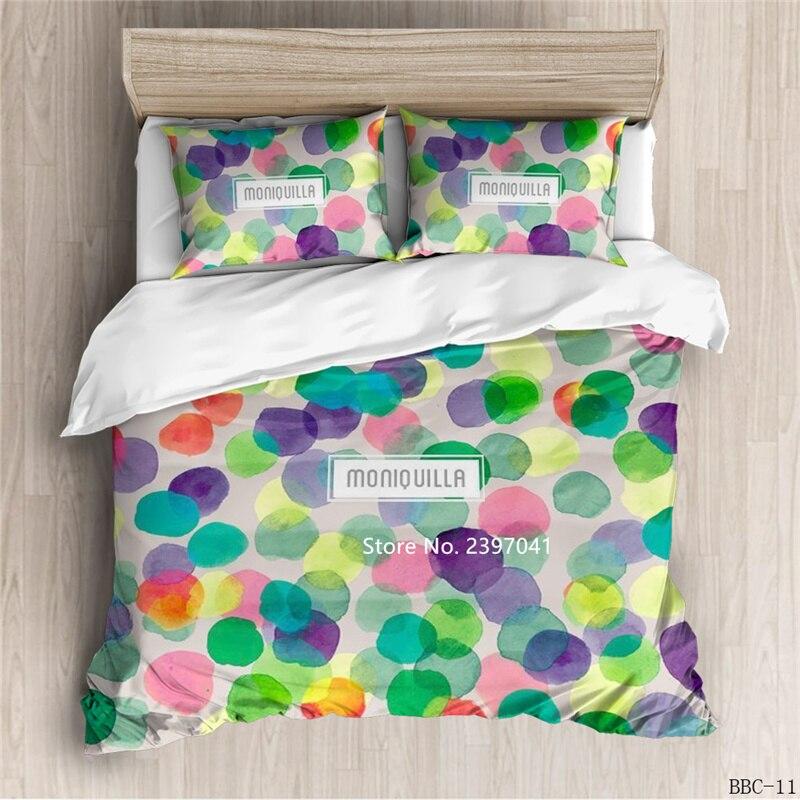 2-3 قطعة اللون هندسية مكدسة طقم سرير مع Eiderdown مغطاة المخدة ديلوكس الراحة المنسوجات المنزلية الكبار ديكور غرفة نوم