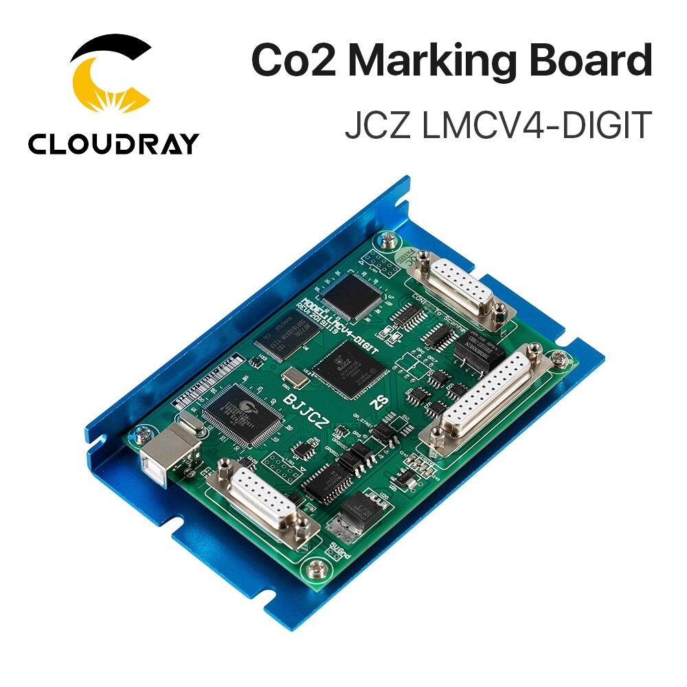 Cloudray Co2 ليزر وسم تحكم JCZ LMCV4-DIGIT بمناسبة المجلس BJJCZ EzCad ل 10.6um Co2 بمناسبة أنبوب الليزر RF أنبوب
