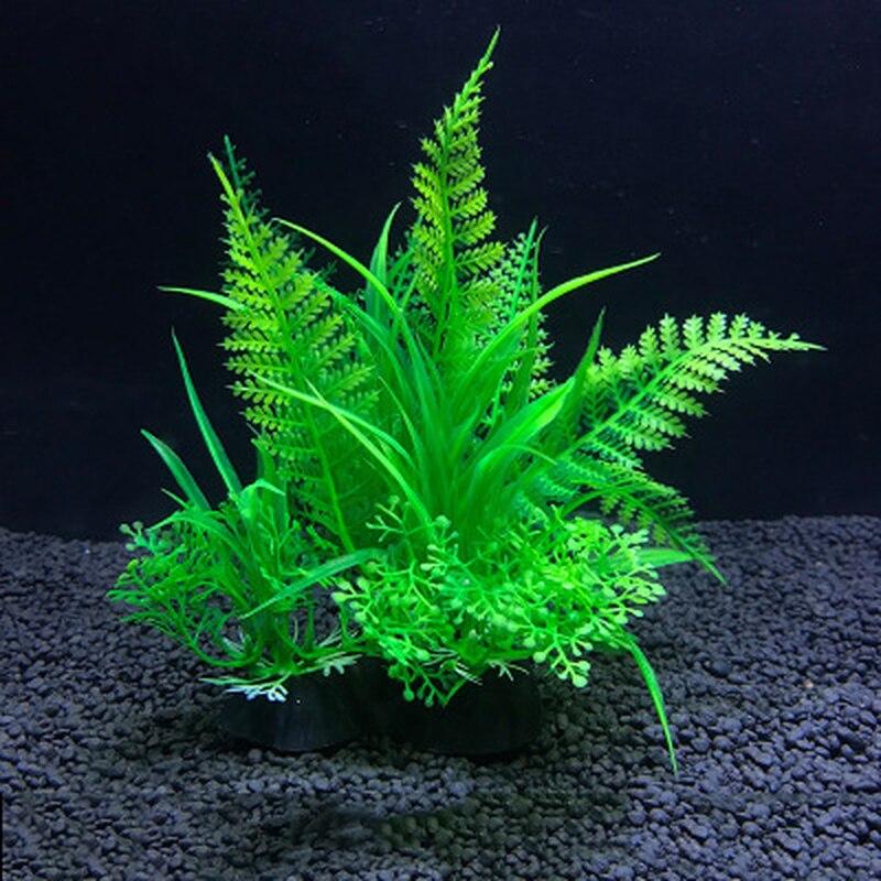 Aquário plantas artificiais decoração do tanque de peixes água ervas daninhas ornamento planta tanque de peixes decoração de aquário peixe & suprimentos aquáticos