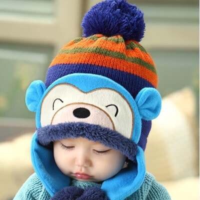 Winter Warm Baby Hats 6 Colors Infant Toddlers Boys Girls Beanies&Beanies Pilot Caps Eargflap Hat Baby Pilot Winter Warm Cap