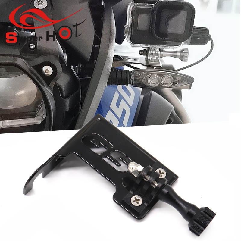 Para BMW R1200GS R1200LC R1250GS Adventure R 1200 GS R 1200 LC ADV soporte delantero izquierdo para GO PRO cámara de salpicadero motocicleta