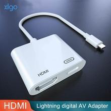 Hdmi Adapter Voor Lightning Digital Av Converter 4K Usb Kabel Connector Tot 1080P Hd Voor Iphone X/11/8P/6S/7P/Ipad Air/Ipod Mobiele telefoon Adapters    -