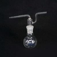 100ml 24/29 Joint Lab Borosilicate Glass Gas Washing Bottle Flat Bottom