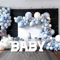 350pcs blue balloon theme series balloon chain combination set wedding birthday party supplies decoration