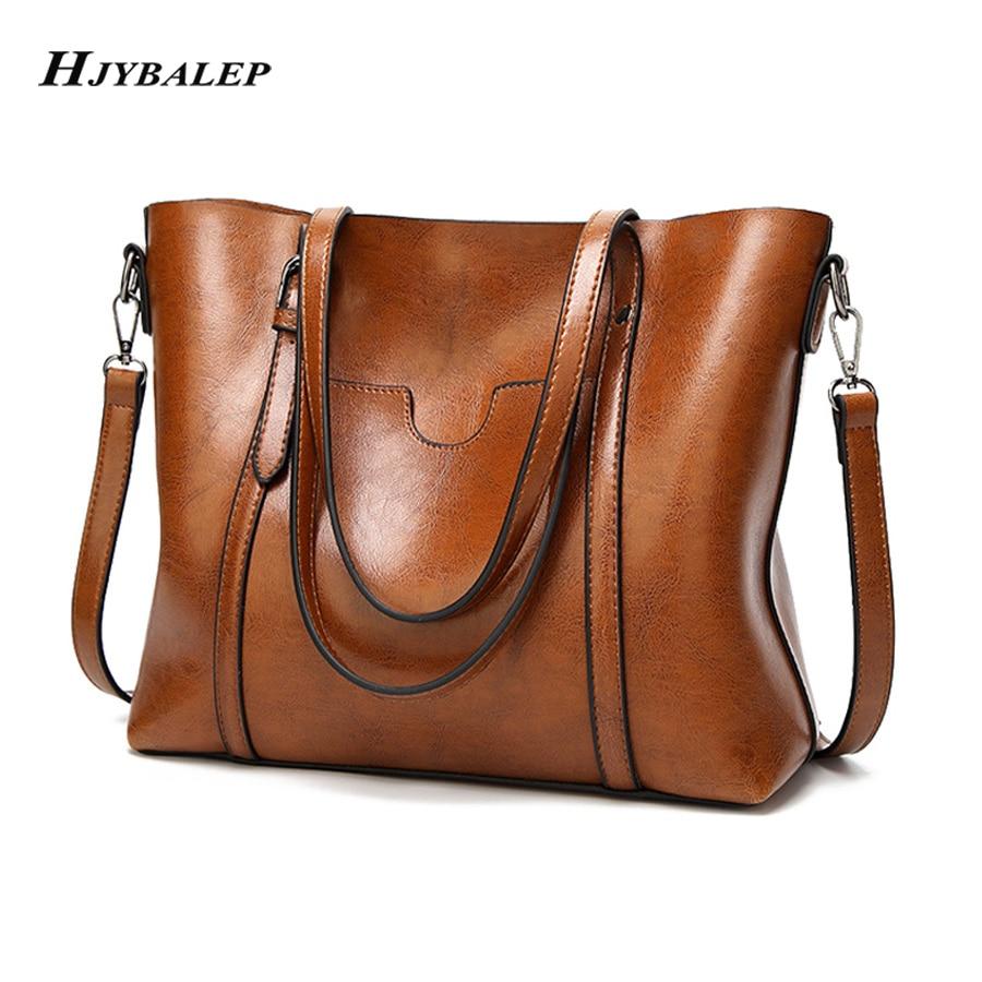 ¡Novedad! Bolso Vintage de cuero encerado para mujer, bolso de lujo para mujer, bolso de mano, bolso cruzado de diseñador, bandolera para mujer, bandolera de hombro