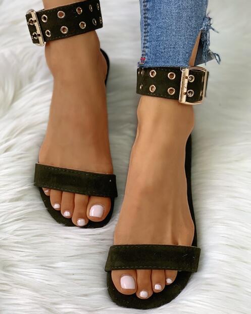 2020 New PVC Women Sandals Hot Sale Fashion Summer Sweet Women Flats Heel Sandals Ladies Jelly Shoes Black Mujer Sandalias